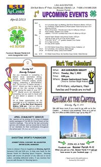 April 2013 Bossier Parish 4-H Newsletter