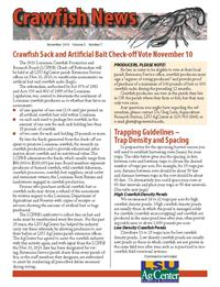 Crawfish Newsletter November 2010 (Vol 3, No 7)
