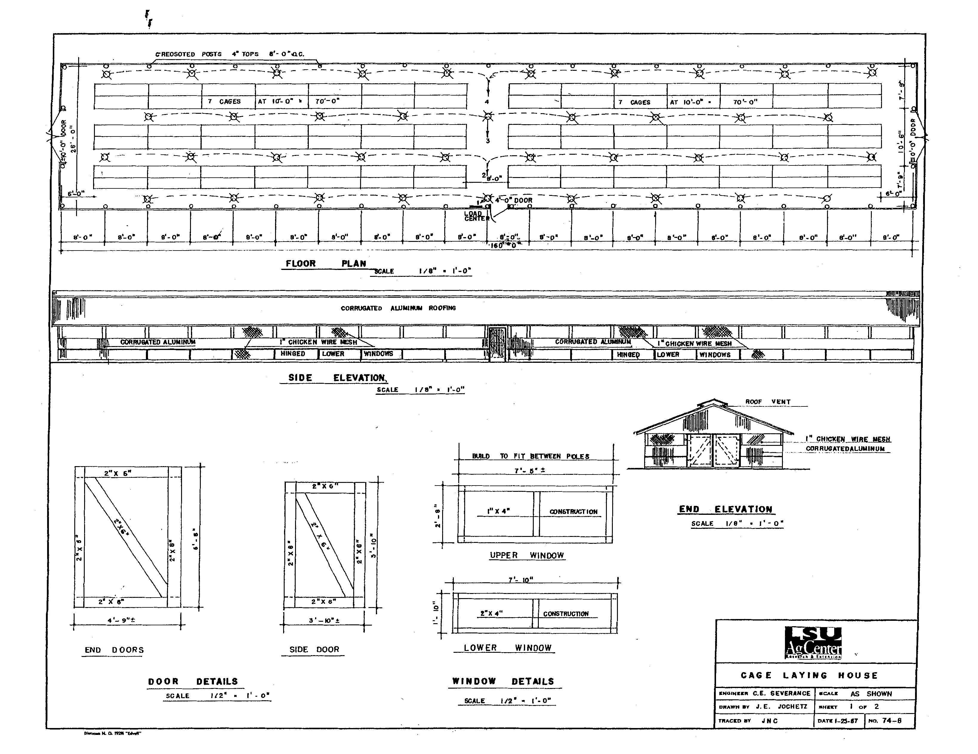 Commercial Rabbit House Plans