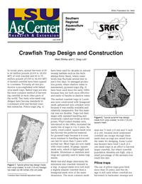 Crawfish Trap Design and Construction