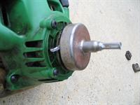 Centrifugal clutch on string trimmer