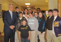 Congressman Rodney Alexander with Avoyelles Parish Junior Leaders