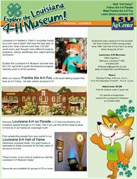 Flyer--Louisiana 4-H Museum