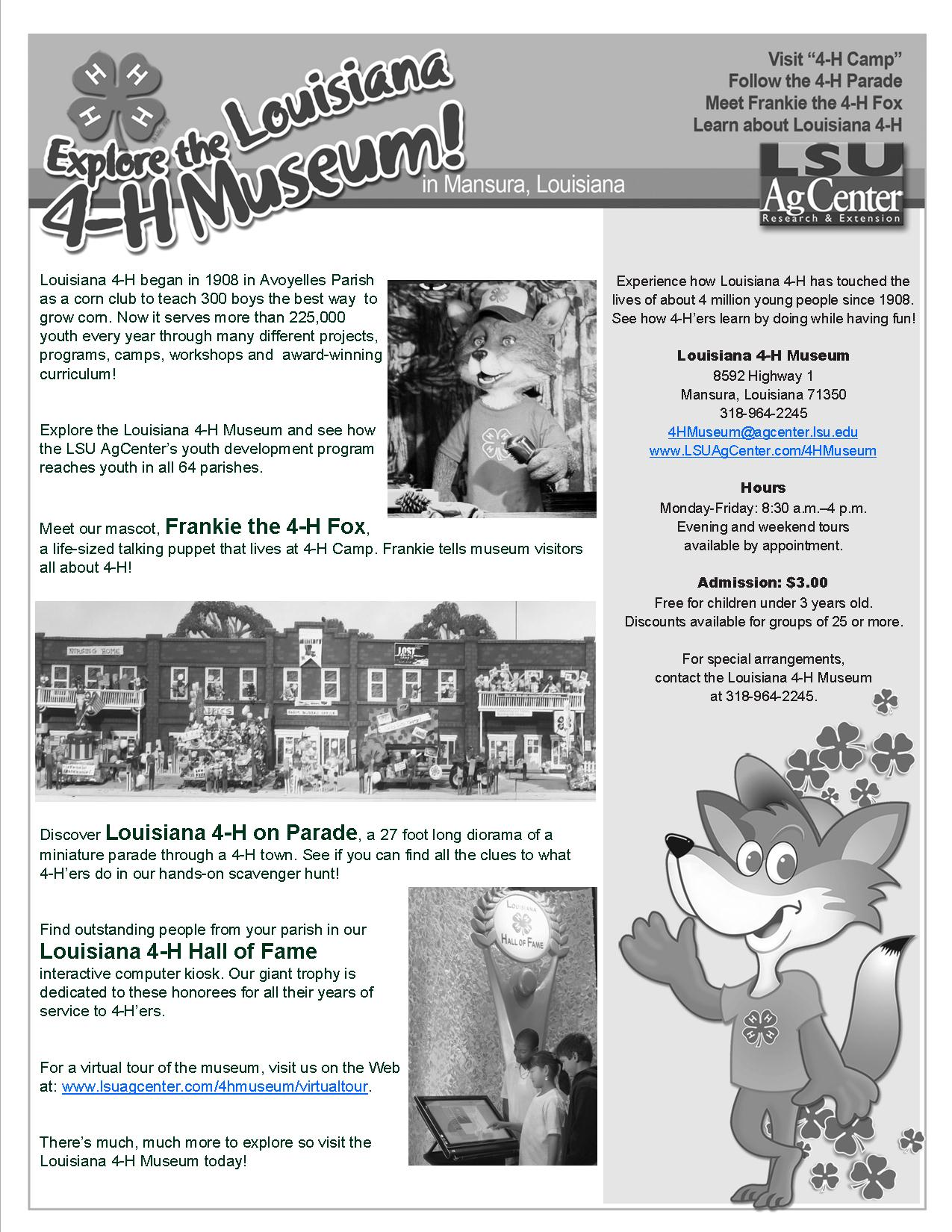 Museum flyer--BW