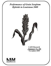 Performance of Grain Sorghum Hybrids in Louisiana, 2009