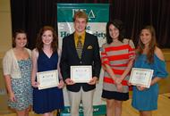 Sophomore Scholarship Award of Merit recipients.