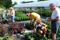 Master Gardeners work at Burden Center