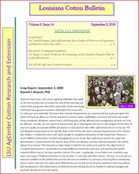Louisiana Cotton Bulletin September 2, 2009