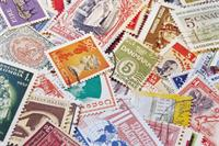 Picture of international stamps