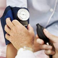 checking blood pressure image