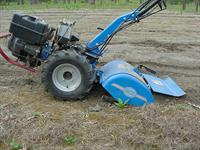 deep tillage with rotary tiller