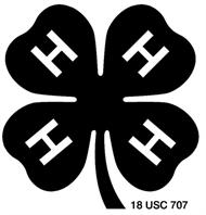 Black and White 4H emblem