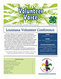 Fall/Winter 2014 Volunteer Voice Newsletter