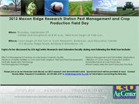 Click on the image above for a PDF version of the 2013 Macon Ridge Field Day flyer.