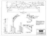 Shedme agricultural extension pole barn plans for 40 foot roof truss