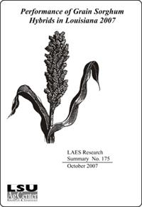 Performance of Grain Sorghum Hybrids in Louisiana 2007