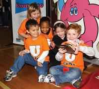 These kindergarteners at the LSU Laboratory School participated in the Body Walk.