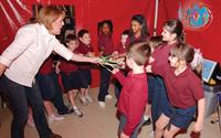 Inside the Body Walk at Cedarcrest-Southmoor Elementary School in Baton Rouge on Feb. 22, 2005.
