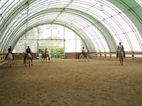 riding in an arena