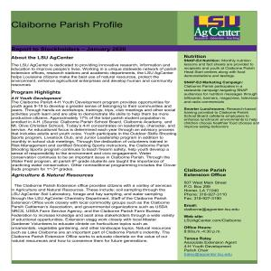 Claiborne Parish Profile-2019-2020pdf thumbnail
