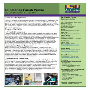 St Charles Parish Profile 2019-2020pdf thumbnail