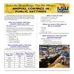 Pub 3604Share the KnowledgeNot the IllnessAnimalContactPublicFINALpdf thumbnail