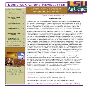 Louisiana Crops Newsletter March 2017pdf thumbnail