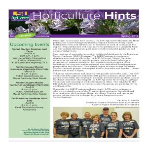 Horticulture Hints Spring 2019 CE regionpdf thumbnail