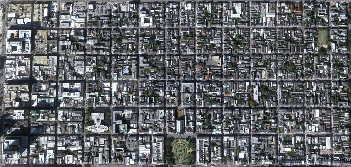 Aerial view of the French Quarter