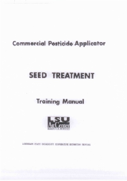 Click image for PDF of the Seed Treatment Manual