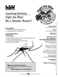 Please click here for the LSU AgCenter learning activity, Fight the Bite! Be a Sketter Buster!