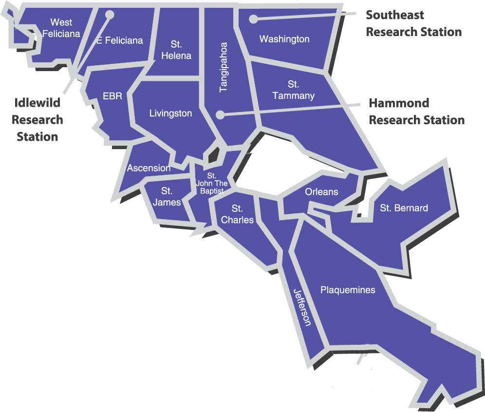 Southeast Region Map.