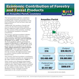 Economic Contribution of Forestry and Forest Products on Avoyelles Parish, Louisiana