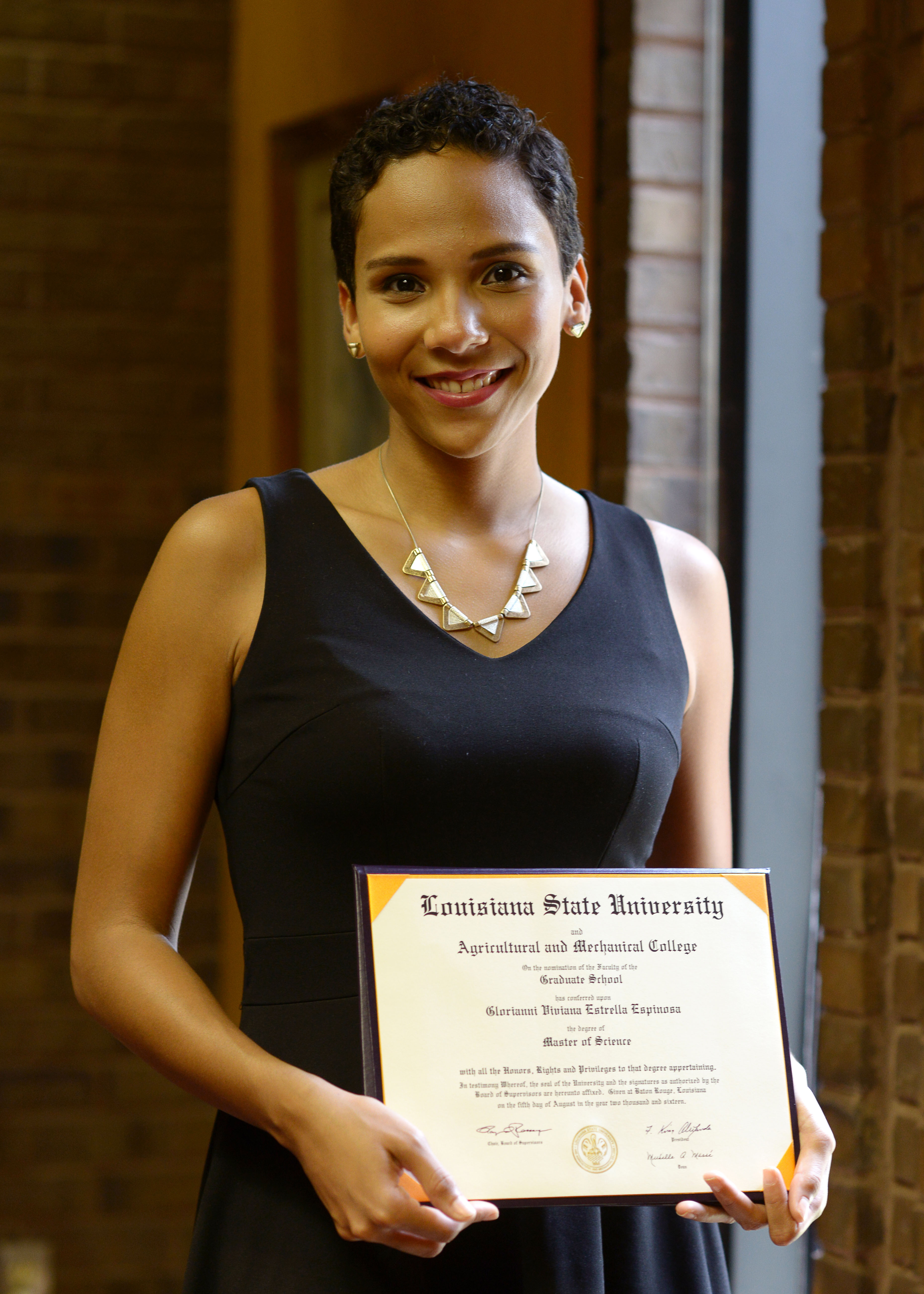 Dominican student graduates from LSU, hopes to improve nutrition in home country