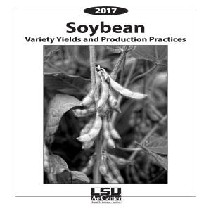 2017 Soybean Variety Yields and Production Practices