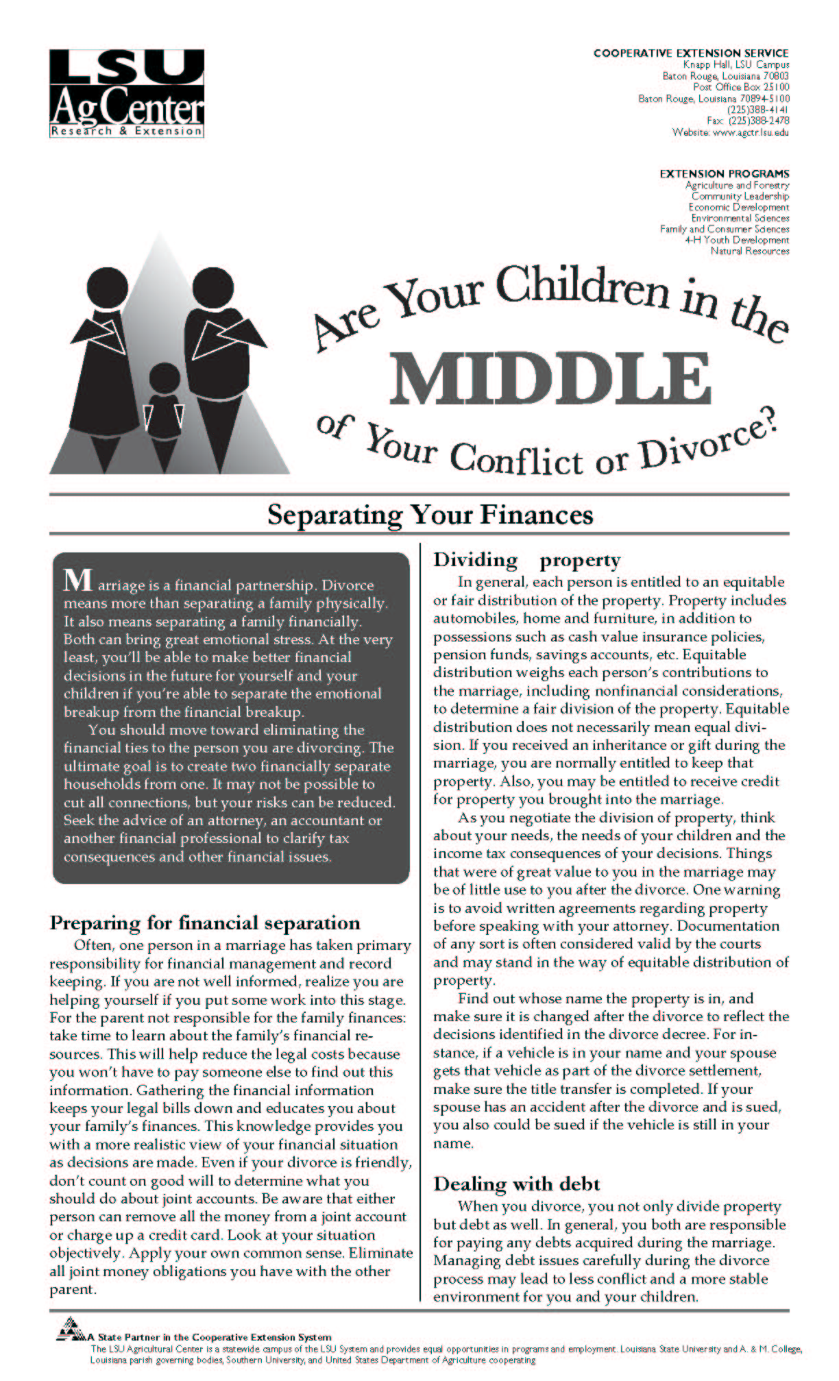 Children in the Middle Series:  Separating Your Finances