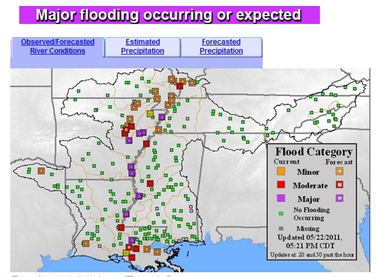 River Forecast Center screenshot
