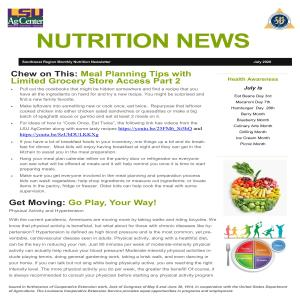 Nutrition News July 2020