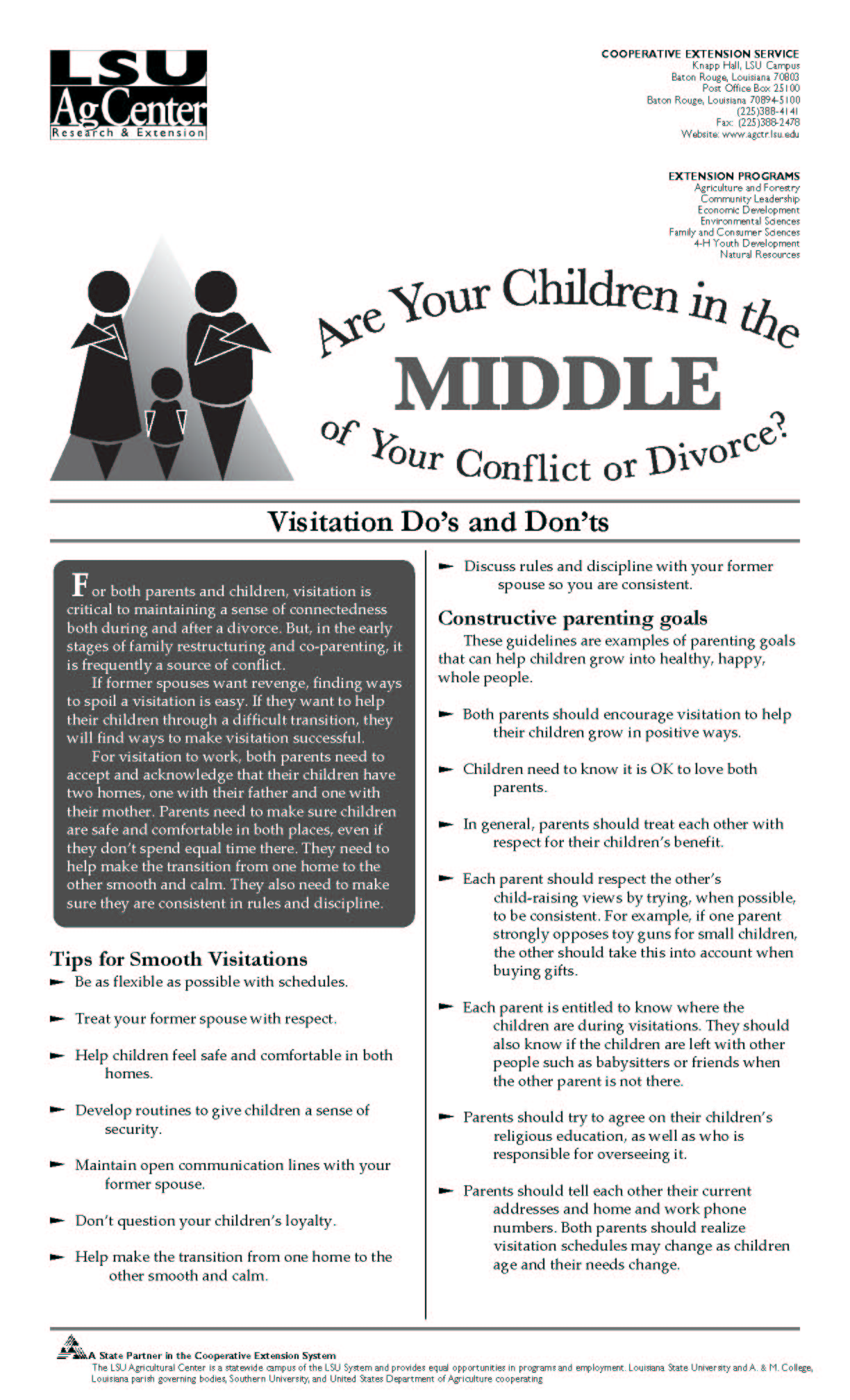 Children in the Middle Series:  Visitation Dos and Donts