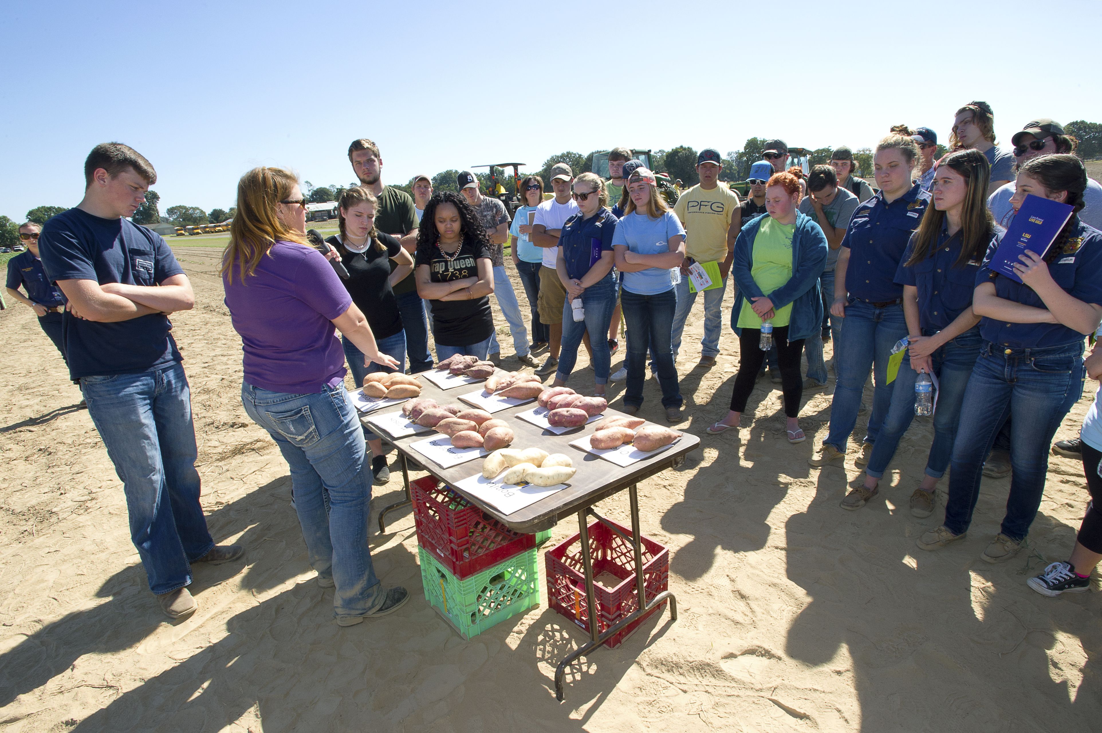 High school students hear about agriculture, careers at field day