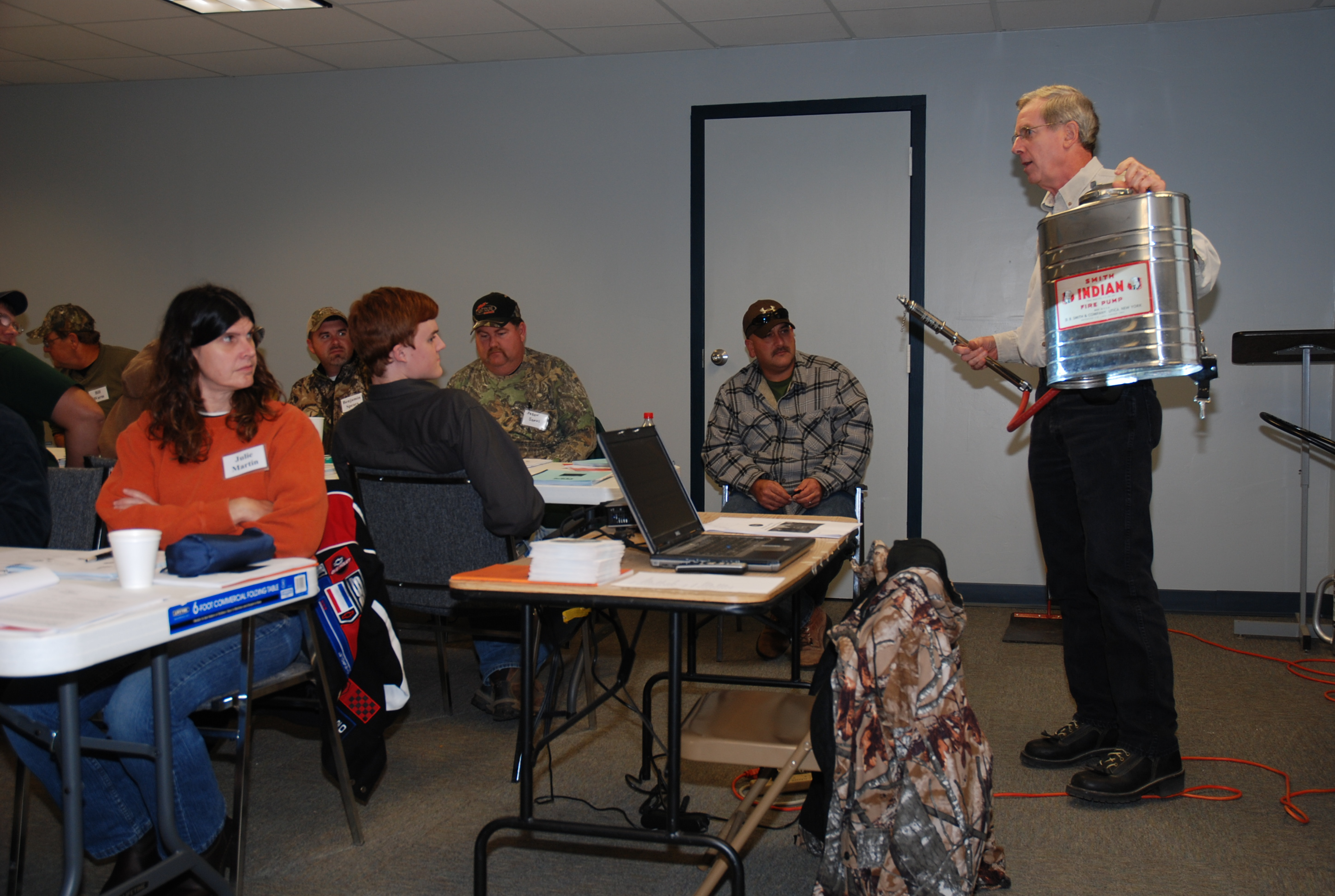 Prescribed burning topic of certification workshop