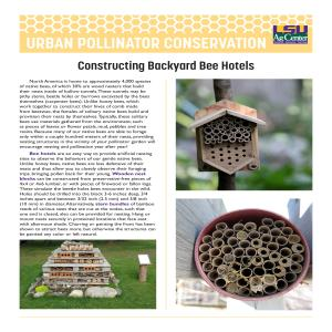Urban Pollinator Conservation Series: Constructing Backyard Bee Hotels