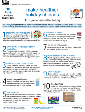 Make healthier holiday choices: 10 tips for a healthier holiday