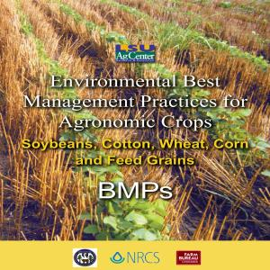 Environmental Best Management Practices for Agronomic Crops
