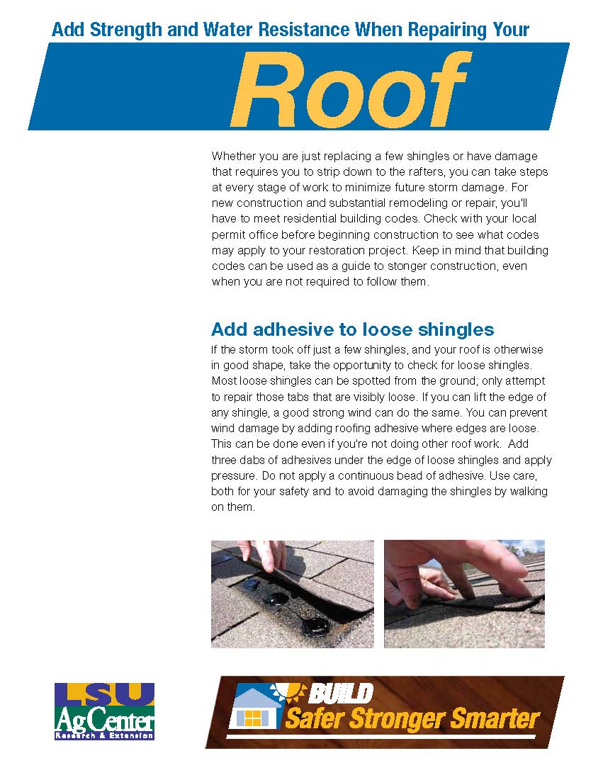 Build Safer, Stronger, Smarter: Add Strength and Water Resistance When Repairing Your Roof