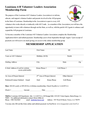 VLA Membership Form