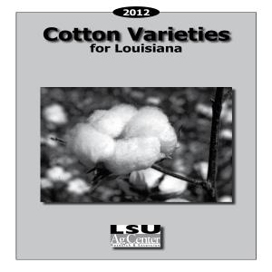 2012 Cotton Varieties for Louisiana