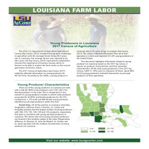 Louisiana Farm Labor -- Young Producers in Louisiana: 2017 Census of Agriculture
