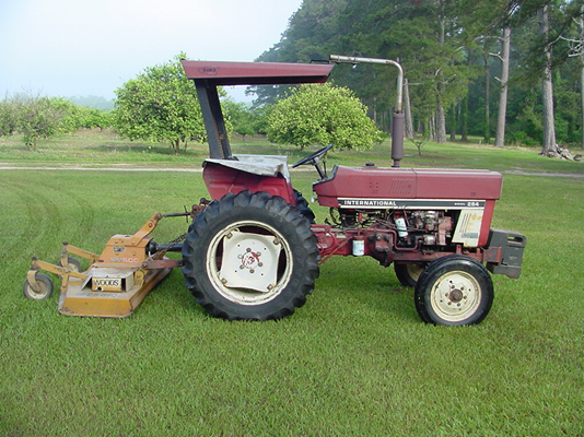 finishing mower with 2 wheels