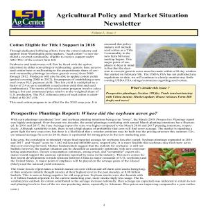 Ag Policy Newsletter